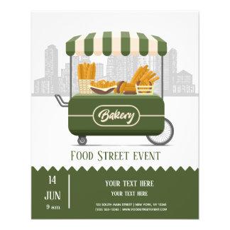 Food street bakery flyer