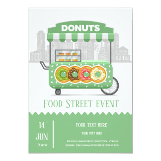 Food street donuts card