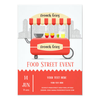Food street french fries card