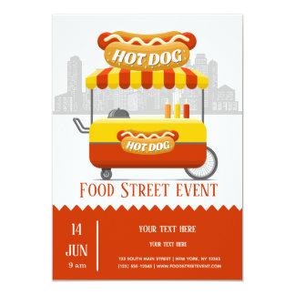 Food street hotdog card