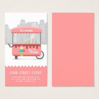 Food street ice cream business card