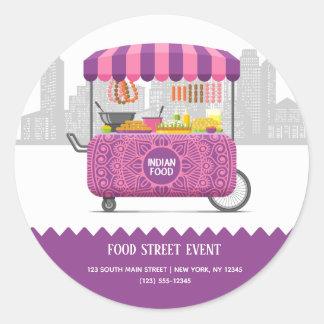 Food street indian food classic round sticker