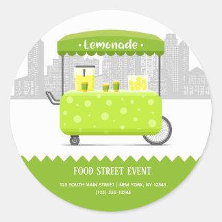 Food street lemonade classic round sticker