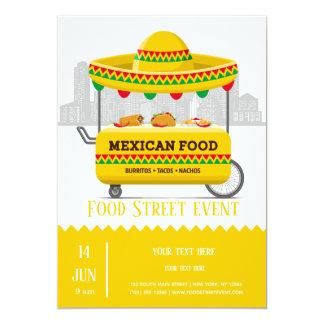 Food street mexican food card