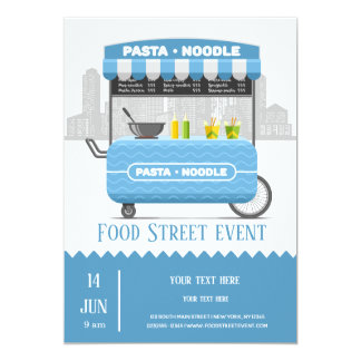 Food street pasta noodle card