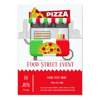 Food street pizza card