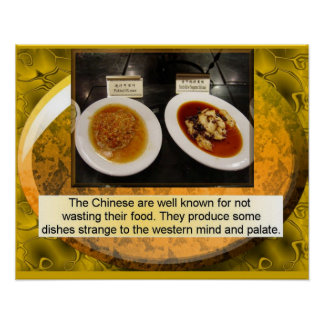 Food Studies Chinese Unusual meals Poster