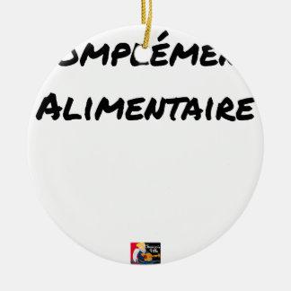 Food supplement - Word games Ceramic Ornament