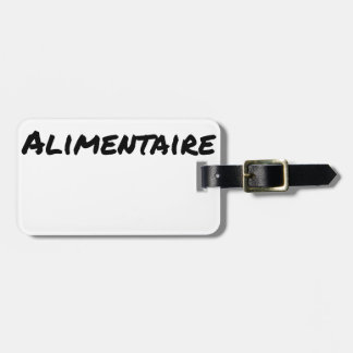 Food supplement - Word games Luggage Tag