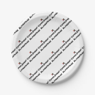 Food supplement - Word games Paper Plate