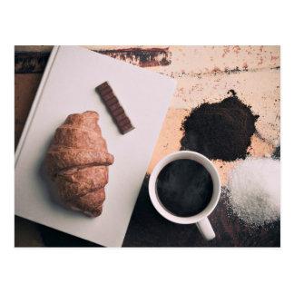Food Themed, A Crossiant, A Strip Of Chocolate, Su Postcard