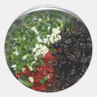 Food Tricolore Classic Round Sticker