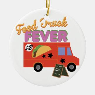 Food Truck Fever Ceramic Ornament
