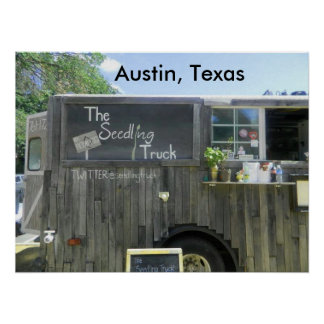Food Truck in Austin, Texas Poster