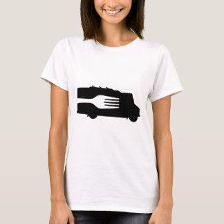 Food Truck: Side/Fork (Black/White) T-Shirt