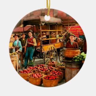 Food - Vegetables - Indianapolis Market 1908 Ceramic Ornament