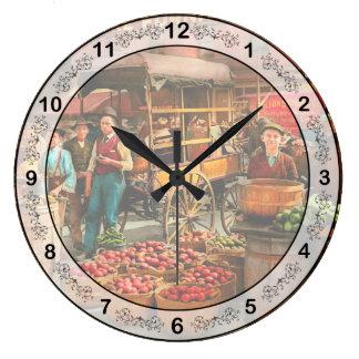 Food - Vegetables - Indianapolis Market 1908 Large Clock