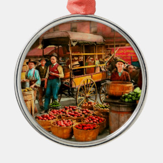Food - Vegetables - Indianapolis Market 1908 Metal Ornament