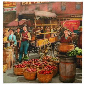 Food - Vegetables - Indianapolis Market 1908 Napkin