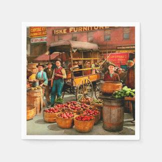 Food - Vegetables - Indianapolis Market 1908 Paper Napkin