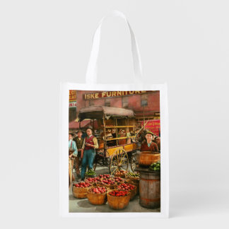 Food - Vegetables - Indianapolis Market 1908 Reusable Grocery Bag