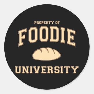 Foodie University Round Sticker