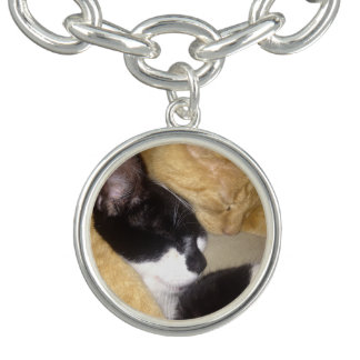 Foofy and Sandybean snuggling for a nap Charm Bracelets