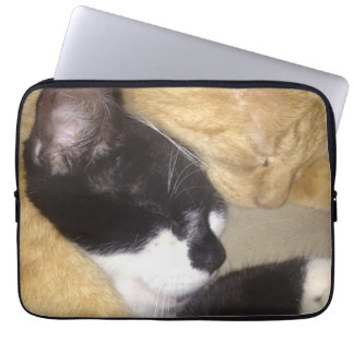 Foofy and Sandybean snuggling for a nap Laptop Sleeve