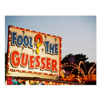 Fool the Guesser Postcard