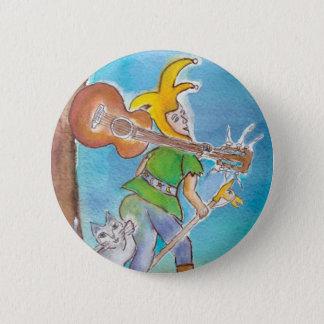 Fool with Guitar (round button) 2 Inch Round Button