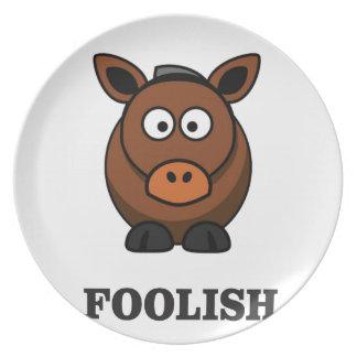 foolish donkey party plate