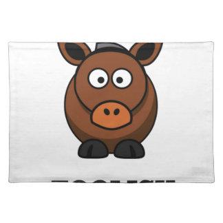 foolish donkey place mat