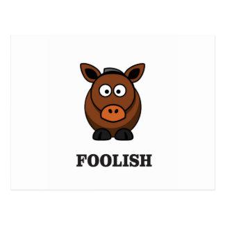 foolish donkey postcard