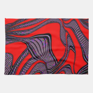 foolish movements, red black kitchen towel