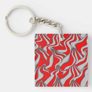foolish movements red (C) Single-Sided Square Acrylic Keychain