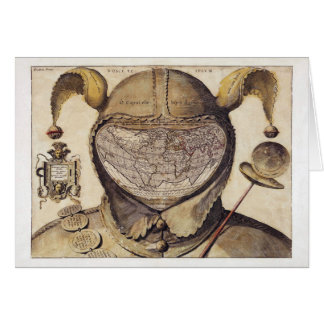 Fool's Cap World Map Card