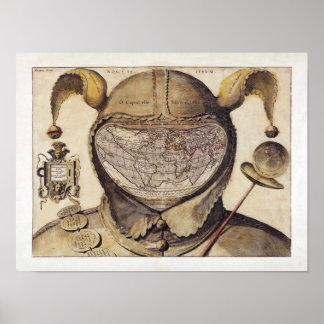 Fool's Cap World Map Poster