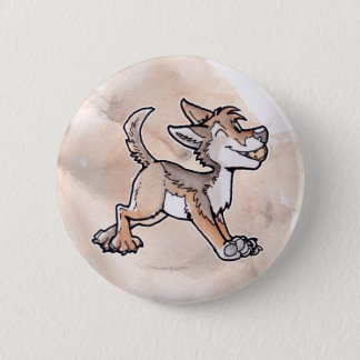 Fool's Gold Coyote 2 Inch Round Button