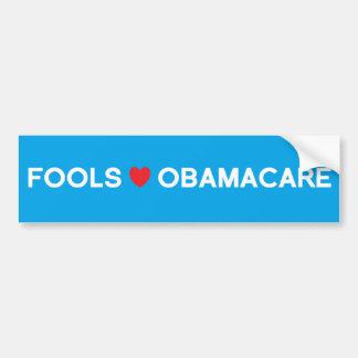 Fools Heart Obamacare Bumper Sticker