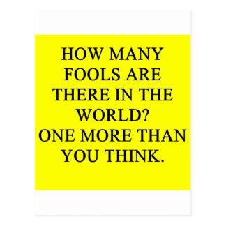 fools postcard