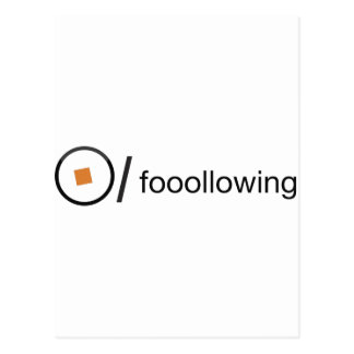 fooollowing tarjeta postal