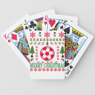 FOOT BALL MERRY CHRISTMAS . BICYCLE PLAYING CARDS