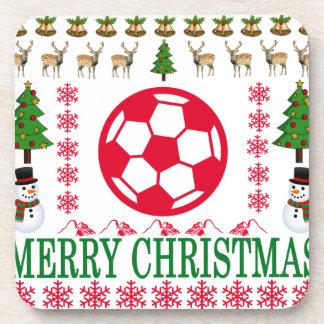FOOT BALL MERRY CHRISTMAS . COASTER