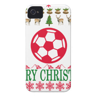 FOOT BALL MERRY CHRISTMAS . iPhone 4 CASES