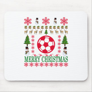 FOOT BALL MERRY CHRISTMAS . MOUSE PAD