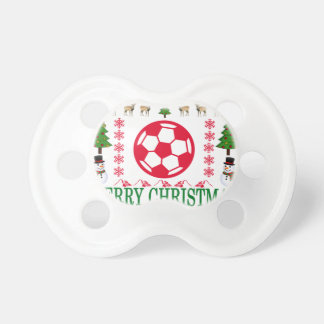 FOOT BALL MERRY CHRISTMAS . PACIFIER