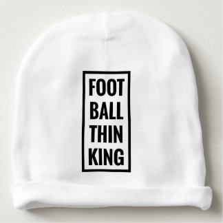 foot ball think king or football thinking? baby beanie
