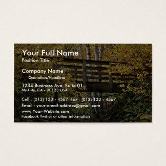 Foot bridge crossing rock bed stream, Minnesota Business Card