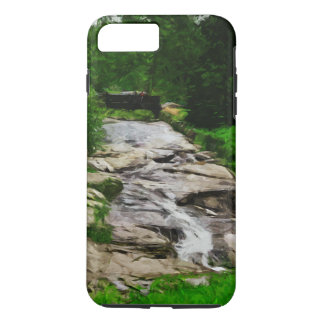Foot Bridge Over Rocky Stream Waterfalls Abstract iPhone 7 Plus Case