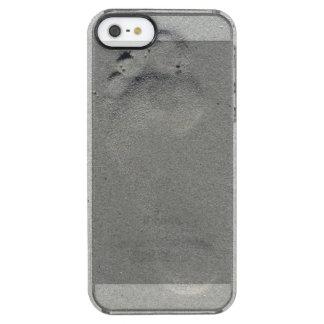 Foot print on beach sand photo case